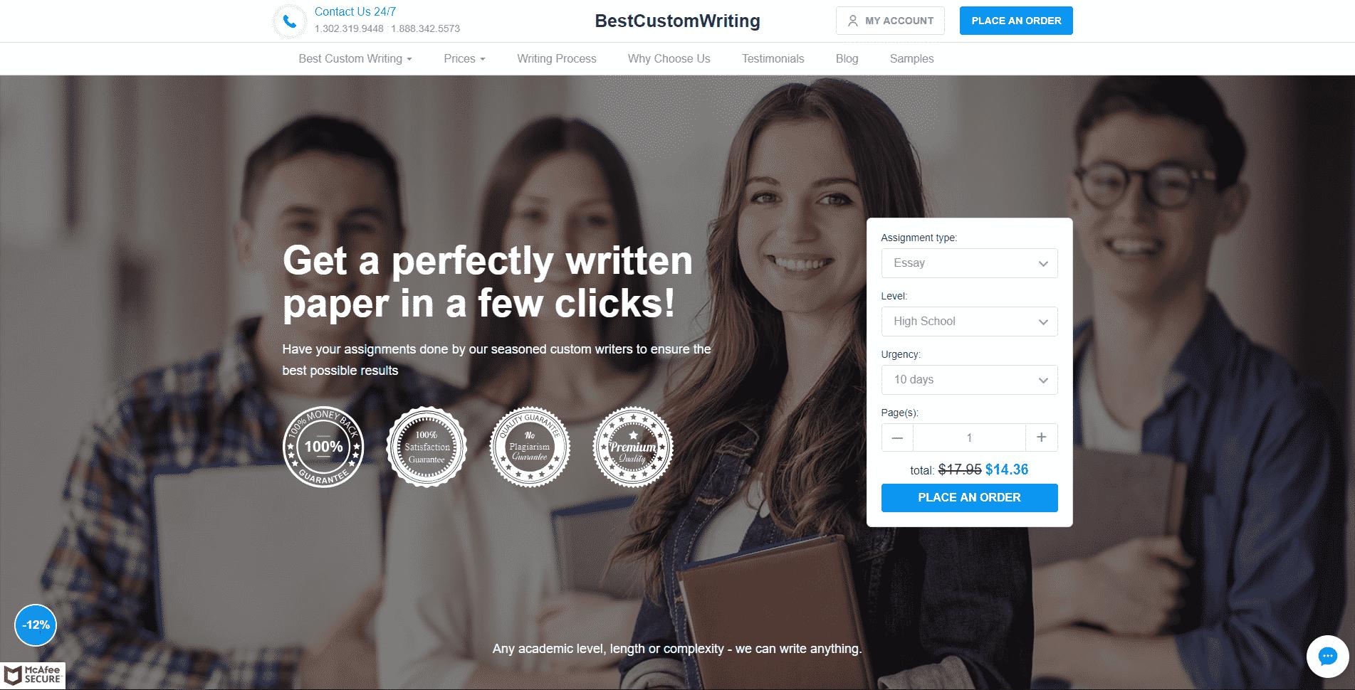 Bestcustomwriting.com Review